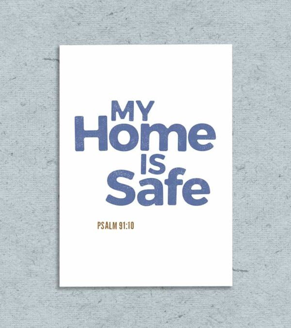 my home is safe printable greeting card