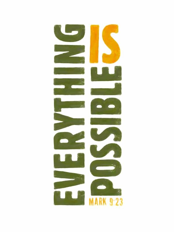 everything is possible lettering