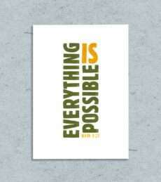 everything is possible printable greeting card