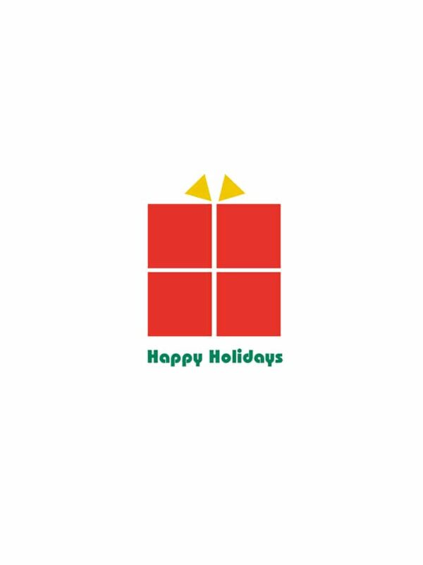 Bauhaus style Holiday Card gift lettering