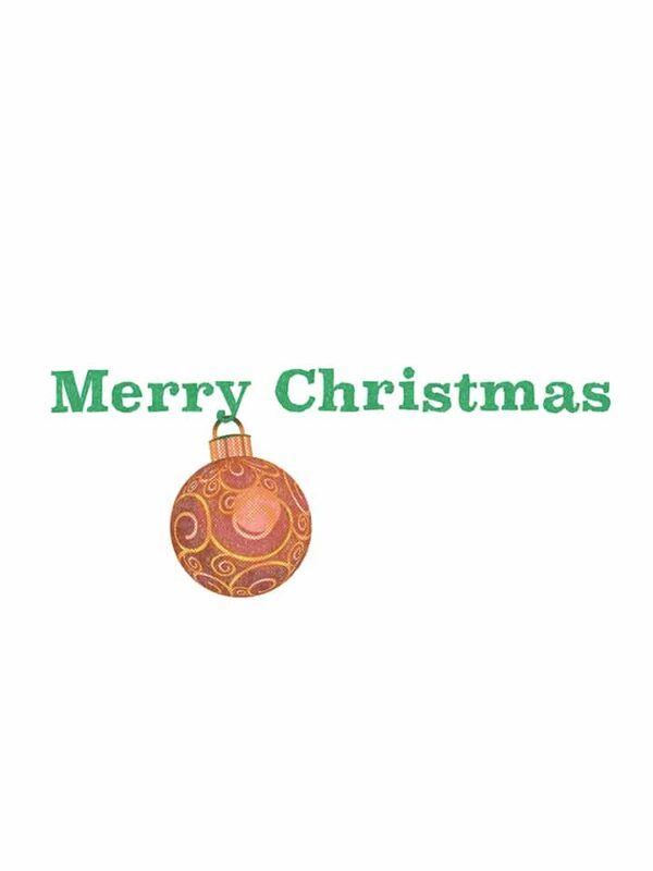 Hanging Christmas Ornament lettering