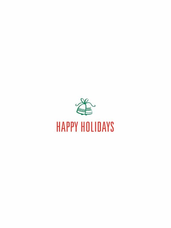Happy Holidays bells lettering