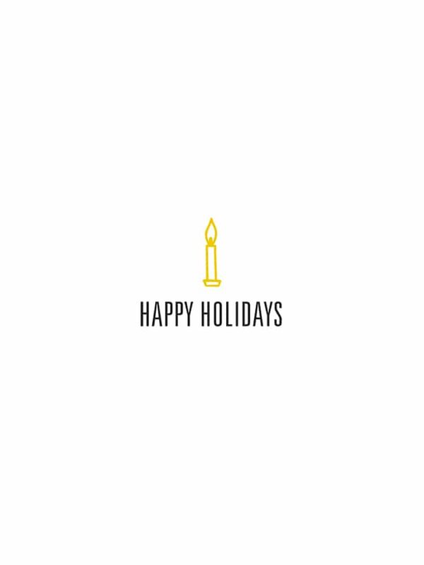 Happy Holidays candle lettering