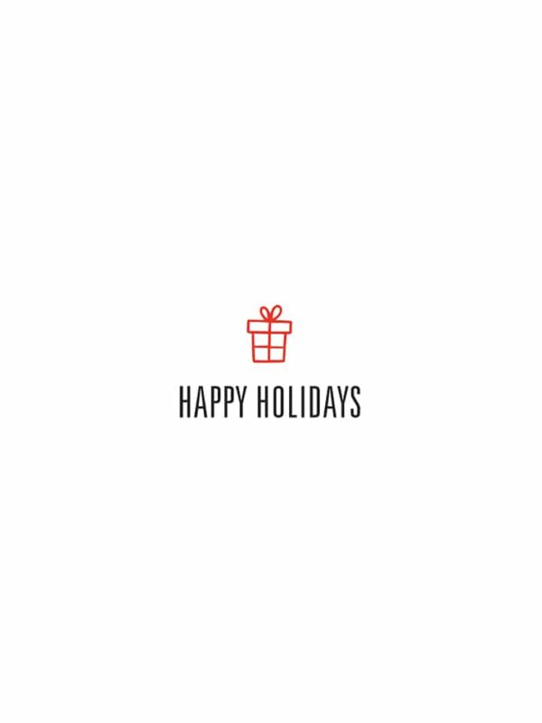 Happy Holidays gift lettering