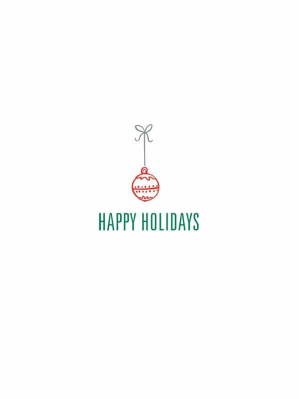 Happy Holidays ornament lettering