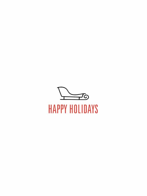 Happy Holidays sled lettering