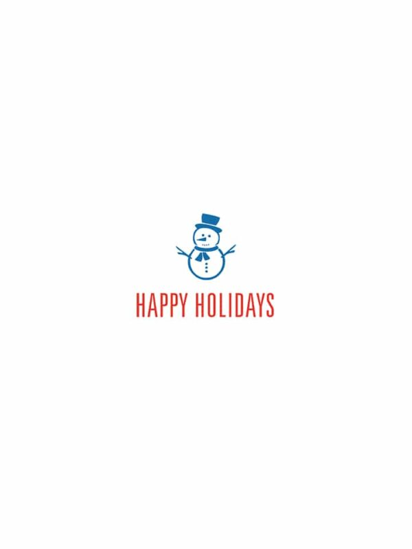 Happy Holidays snowman lettering