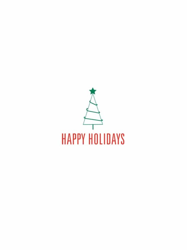 Happy Holidays tree lettering