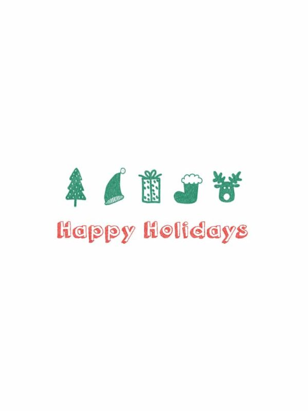 Holiday Objects lettering