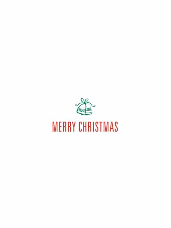 Merry Christmas bells lettering