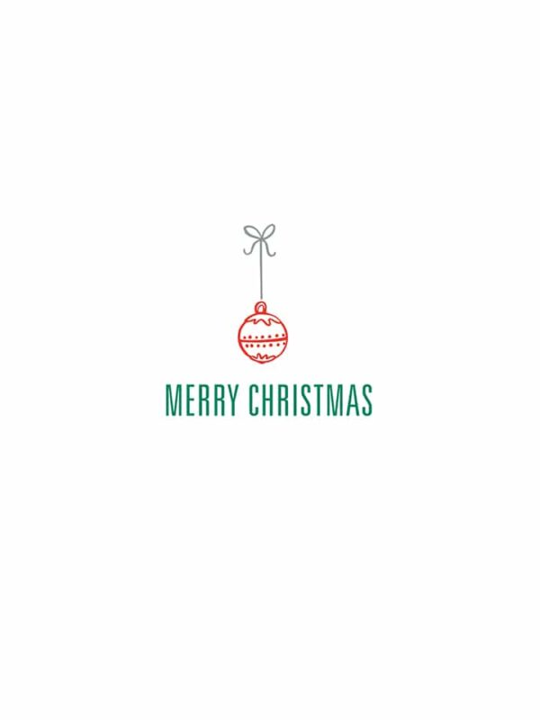 Merry Christmas ornament lettering