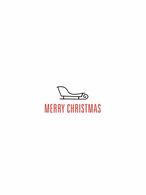 Merry Christmas sled lettering