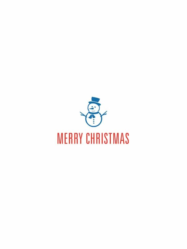 Merry Christmas snowman lettering