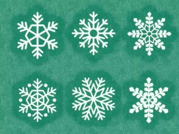 Snowflakes lettering