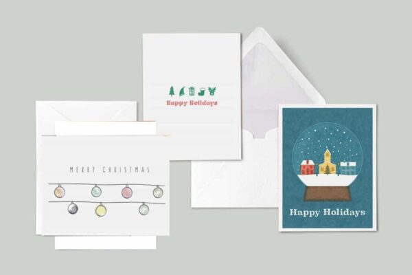 holiday just for you set of printable greeting cards